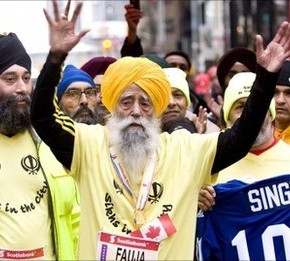 Put down the ginger curry and applaud Fauja Singh, 100-year-old marathoner