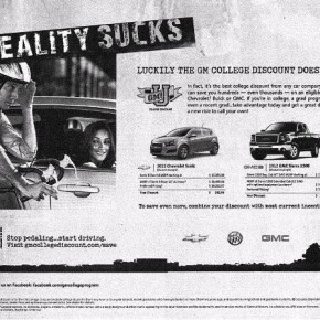 Car-bike battle continues, this time in print ads. Advantage: bikes.
