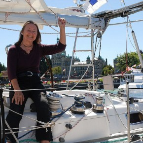 Record-breaking round-the-world voyage for 70-year-old