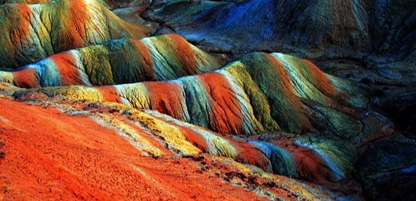 The crayon-colored hills of Zhangye Danxia